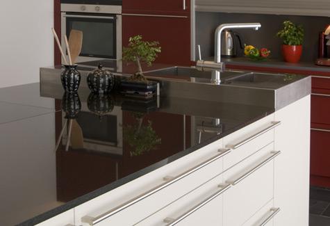 Küchenarbeitsplatten STAHL Fliesen Und Natursteine - Küchenarbeitsplatte aus fliesen